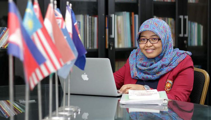 06 Lutfiya Al Qarani Presiden ASEAN Youth Leaders Association (Foto umm ac id)