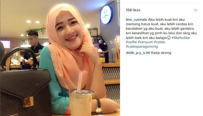 Senyum aja fren! (Foto: Instagram/lina_rusmala)
