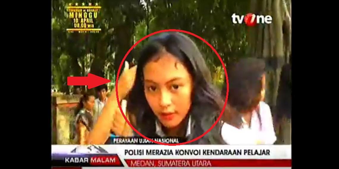 Siswi SMA Medan Bentak Polwan